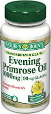 60 Evening Primrose Oil 1000 mg 90mg GLA Nature's Bounty Herbal Supplement PMS