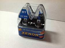WDGS PREMIER 7500K H1 55W SUPER WHITE XENON TWO BULBS  FOR HEAD LIGHT FOR KIA KR
