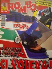Auto & Sport ROMBO 46 1995 con inserto Rombo News -Gp Australia Morbidelli podio
