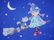 KL122 A Night Flight Witch Counted Cross Stitch Kit by Genny Haines