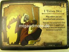 D&D Fortune Cards - 1x I Think Not  #070