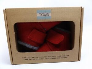 TOMS Cuna Red Felt Baby Infant Shoes, SZ 3 T,  NEW DISPLAY,  D12981