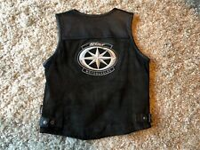 womens Yamaha Star leather motorcycle vest