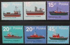 POLAND 1988 Ships Fire Boats. Set of 6. Mint Never Hinged. SG3197/3202.