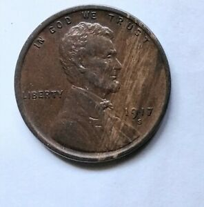 1917 S WHEAT SMALL CENTS