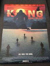 KONG SKULL ISLAND ORIGINAL MOVIE PROMO POSTER 11x17 - Jackson - Goodman - Tian