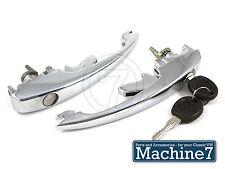 Classic VW Beetle Door Handles Pull Lock & Matching Keys Set Bug 1968-79, Pair