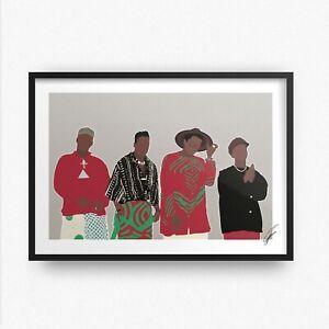 A Tribe Called Quest INSPIRED WALL ART Print / Poster A4 A3 atcq rap hip hop