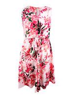 Calvin Klein Women's Printed Tie-Waist Dress