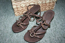 Ash Italia Tequila ankle Wrap brown Leather heeled sandals BNIB RRP £119 Size 3