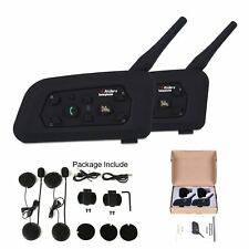 Motorcycle Bluetooth Helmet Intercom Interphone Wireless Multi Headsets 1200M 2x