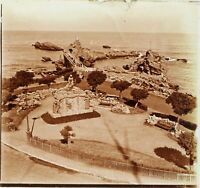 FRANCE Biarritz ca 1910, Photo Stereo Plaque Verre PL59OY6