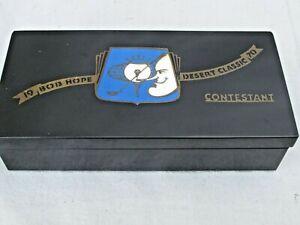 Vintage 1970 Bob Hope Desert Classic Contestant Cigarette Box
