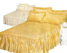 Traditional Solid Machine Washable Decorative Bedspreads