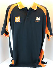 Chase Authentics VTG Tony Stewart #20 NASCAR Black Polo Shirt Size XL Joe Gibbs