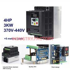 3KW Variable Frequency VFD Drive Inverter 4HP 380V 7A fr 3PH CNC motor 3PH 500Hz