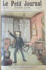 LES TETES DE TURC DE HENRI ROCHEFORT   GRAVURE PETIT JOURNAL 1893
