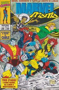 original italian comic magazine  MARVEL MANIA # 6 Jul  1995  with poster