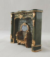 Fireplace - Green  1.859/0 miniature dollhouse furniture 1/12 scale Reutter