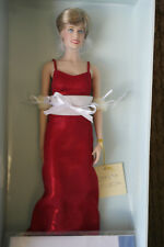 Franklin Mint Princess Diana Doll Red Lame Gown Rare Limited Edition/750 COA!!