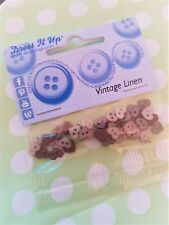 PK 30 Small Clear Buttons Flat Perfect for Scrapbook and Card Making
