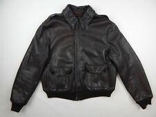 Avirex A-2 Dark Brown Leather Flight Jacket Men's sz 44 Made in Korea