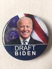 "2020 Vice President Joe Biden ""Draft Biden"" for President 2.25"" Button Pin"