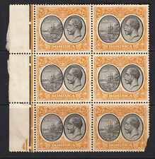 Dominica 1923-33 Block Of 2 1/2d Seal Of Colony & King George V With Tab - Mint