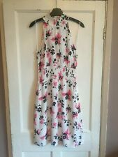 Ladies Ivory Mix Sleeveless Floral Dress from Marks & Spencer Size 10