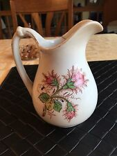 Vintage Iron Stone China, Knowles, Taylor and Knowles Pitcher Moss Ross Pattern
