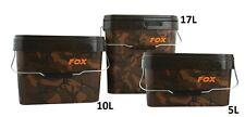New Fox Camo Heavy Duty Square Bucket - 5L 10L 17L Carp Fishing Setup