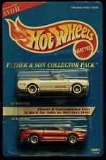 1995 Hot Wheels AVON Father Son 65 Mustang and 96 Mustang 1-64 Diecast MOC