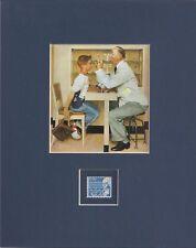 Norman Rockwell - Eye Doctor / Optometrist - Frameable Postage Stamp Art - 0167