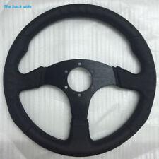 Black Steering Wheel Flat Racing Drifting Rally Driving Replacement Parts Kit
