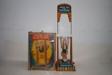 1950's Mattel Toys Tin Musical Man on the Flying Trapeze, Boxed Nice Original