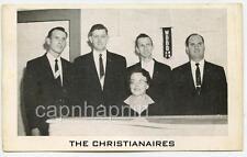 Vtg 1950s THE CHRISTINAIRES Southern Gospel Music Card BURLINGTON NC Radio WBBB