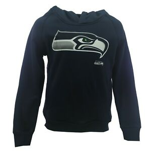 Seattle Seahawks Official NFL Kids Youth Size Athletic Hooded Sweatshirt New