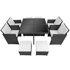 Poly Rattan Aluminium Garnitur Gartenmöbel 4 Stühle Tisch Schutzhülle B-Ware