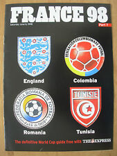 FOOTBALL WORLD CUP 1998 FRANCE 98 EXPRESS 7 - ENGLAND COLOMBIA ROMANIA TUNISIA