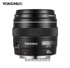 Yongnuo YN100MM F2 AF& MF Medium Telephoto Prime Lens For Canon EOS Rebel Camera