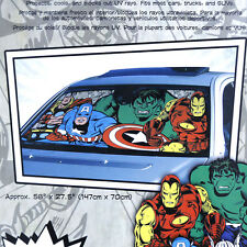 Marvel Comic Windshield Front Window Sun Shade Auto Car Accessory