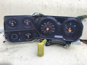 73 87 Chevy GMC Truck C10 Gauge Cluster with trip, cruise, and O/D