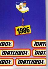 1986 MATCHBOX POCKET CATALOG
