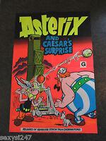 ASTERIX AND CAESARS SURPRISE RARE ORIGINAL MOVIE CINEMA POSTER 1985