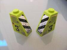 LEGO 6048pb001 @@ Slope 65 2 x 1 x 2 Vents Worn '3' & Danger Stripe Pattern 8958