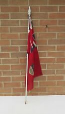 Vintage hand held large printed Union Jack ensign Canada flag on finial stick