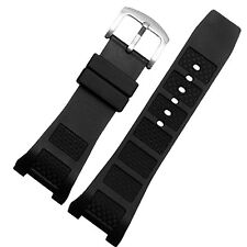 30mm x 16mm Black Rubber Watch Band Strap Compatible for Ingenieur IW323601