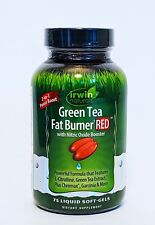 GREEN TEA Fat Burner Red with Nitric Oxide Booster 75 SoftGels exp 05/20