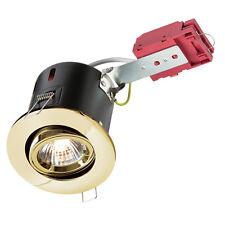 Knightsbridge 230V IP20 50W GU10 IC Fire-Rated Tilt Downlight OTTONE X1