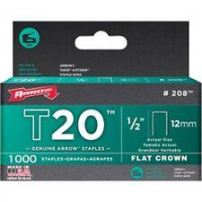 "1/2"" Box Of 1000 T20 Arrow Staples - 12mm () Heavy Duty Stapling Tools Hardware"